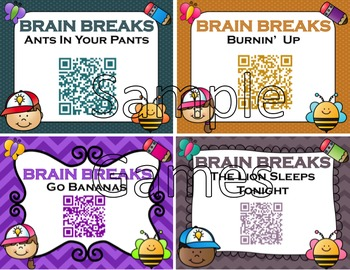 Brain Breaks Bundle: 64 games and 20 Songs With QR Codes - In Class Games