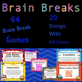 Brain Breaks Bundle: 64 games and 20 Songs With QR Codes -