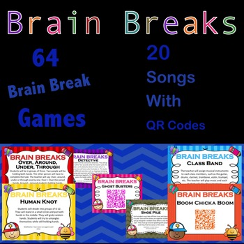 Brain Breaks Bundle: 64 games and 20 Songs With QR Codes