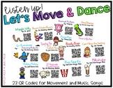 Brain Breaks: Let's Move and Dance QR Codes #ateachersspoo