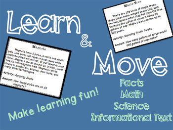 Learn & Move - Reading & Movement Task Cards