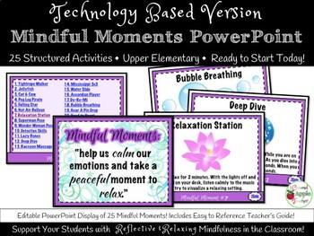 Brain Breaks: Mindful Moments No Prep PowerPoint Version {25 Activities}