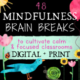 Mindfulness Brain Breaks: Classroom Management Coping Skills for Calm + Focus