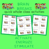 Brain Breaks Movement Cards Sports Theme