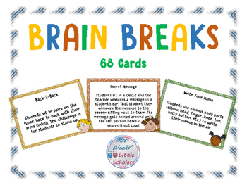 image relating to Break Cards for Students Printable called Head Breaks Printable Playing cards Worksheets Academics Pay back
