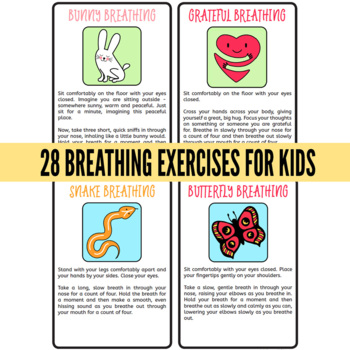 Brain Breaks Printable Cards Breathing Exercises For Kids By Childhood 101