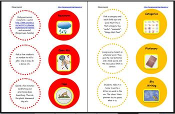 Brain Breaks - Printable games and activities for 5 minute classroom breaks