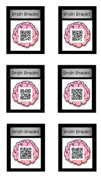 Brain Breaks - QR Codes