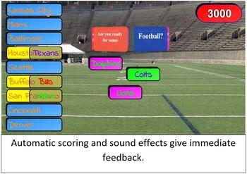 Free Brain Breaks SMART Board / Interactive Whiteboard Game: Football Themed