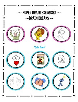 brain breaks super brain exercises by super teacher tactics tpt. Black Bedroom Furniture Sets. Home Design Ideas