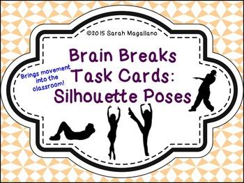 Brain Breaks Task Cards: Silhouette Poses