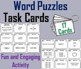 Brain Breaks Task Cards/ Word Puzzles Task Cards