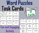 Brain Breaks Task Cards/ Word Puzzles Task Cards