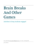 Brain Breaks and Other Games for the World Language Classroom