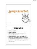Brain Breaks and Sponge Activities