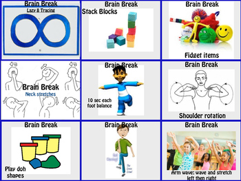 Brain Breaks and Transitions Grade K and 1