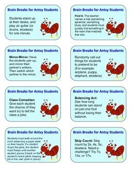 Brain Breaks for Antsy Students