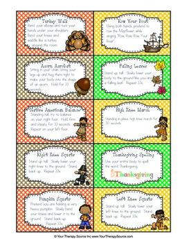 Brain Breaks for Thanksgiving