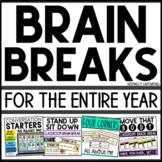Brain Breaks for an Entire Year Bundle