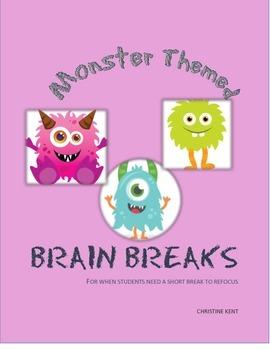 Brain Breaks for monster themed classroom