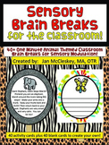 Brain Breaks for the Classroom - 1 minute Animal Themed Sensory Breaks!