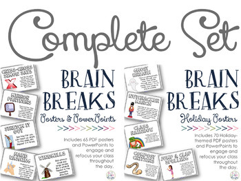 Brain Breaks for the Classroom {COMPLETE Posters & PPT SET}