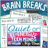 Brain Breaks to Re-energize & Relax Teen Minds Middle & High School Creative+Fun