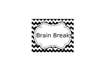 "Brain Breaks when you need a ""minute"" or two"
