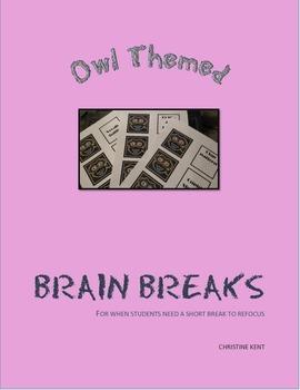 Brain Breaks with owls