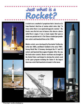 Guide to Rockets & Space Flight | Maker Space, Make Activities, STEAM promoting
