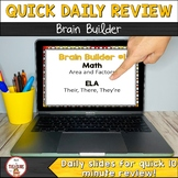 Bell Ringer Daily Warm Ups - Math and ELA Skills FREEBIE