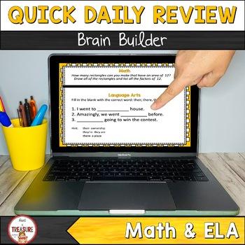 Brain Builder Bundle- Quick Daily Math and ELA practice