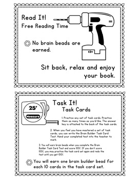 Brain Builder Instructional Cards