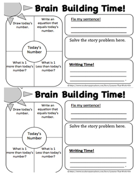 Brain Builder Log Book - Pack 1