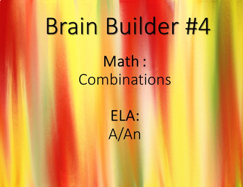 Brain Builder - Making Combinations and A/An