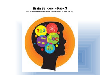 Brain Builder Morning Work Pack 3