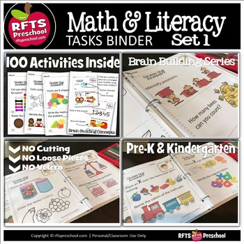 Brain Building Concepts Binder for Preschool & Kindergarten