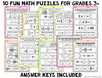 Brain Busters: Math Logic Problems