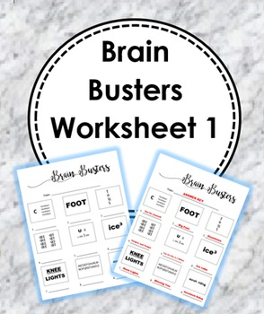 Brain Busters/Rebus Puzzles Worksheet (With Answers)