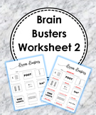 Brain Breaks/Rebus Puzzle 2 Worksheet (With Answers)