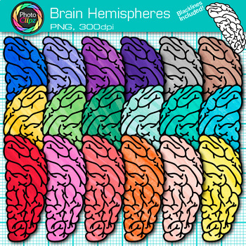 Brain Clip Art {Growth Mindset, Breaks, Teasers, Games, Logic Puzzles Use} 2