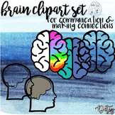 Brain Clipart Set for Communication & Making Connections