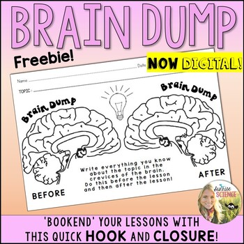 Brain Dump Anticipation Hook and Closure Activity for Any Lesson