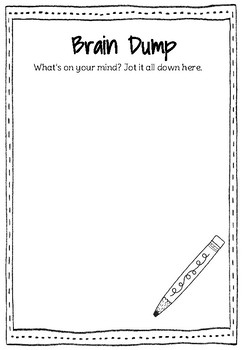 photo about Brain Dump Worksheet referred to as Head Dump Worksheets Instruction Supplies Instructors Spend