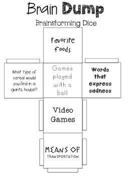 Geeky image with brain dump worksheet
