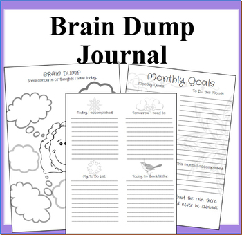 photo about Brain Dump Worksheet referred to as Thoughts Dump Worksheets Coaching Supplies Academics Shell out