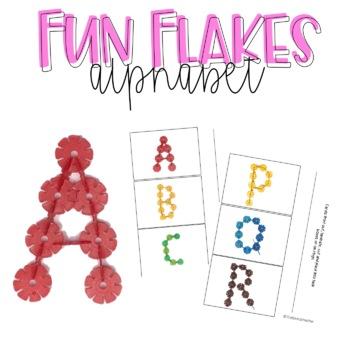 Brain Flakes Alphabet Task Cards
