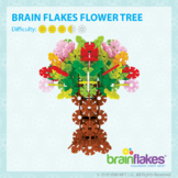 Brain Flakes® Printable Step-By-Step Flower Tree Instructions   FREE
