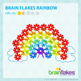 Brain Flakes® Printable Step-By-Step Rainbow Instructions