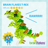 Brain Flakes® Printable Step-By-Step T-Rex Dinosaur Instructions